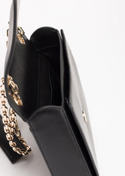 Черная сумка Karl Lagerfeld на цепочке, фото