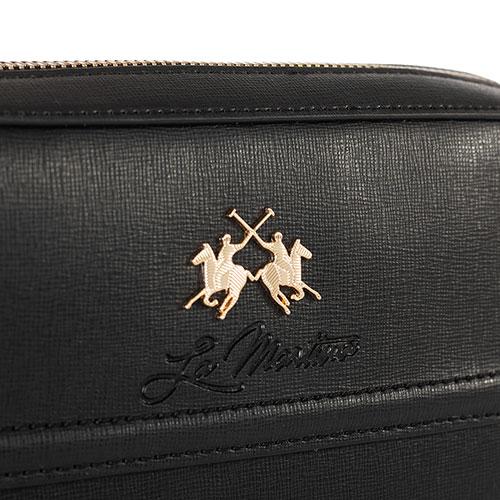 Черная сумка Lа Martina Portena с металлическим логотипом, фото