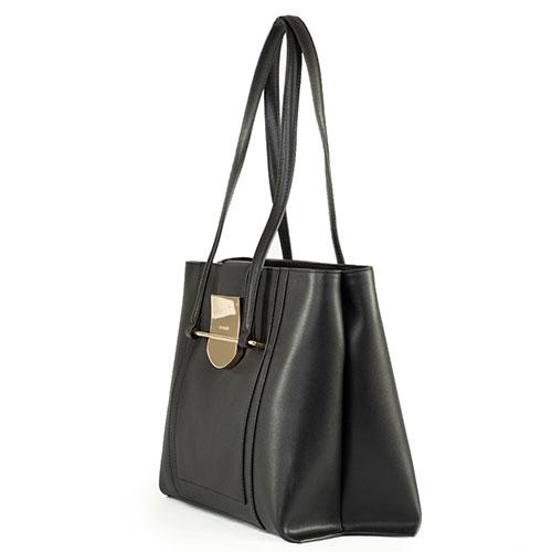 Женская сумка Cromia Romy из гладкой черной кожи, фото
