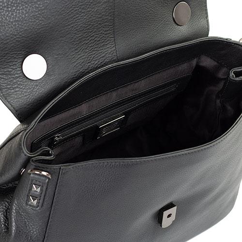 Черная сумка Cromia Brave со съемным регулируемым ремнем, фото