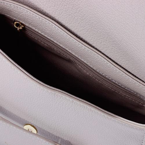 Женская сумка Lancaster Dune из кожи серого цвета, фото