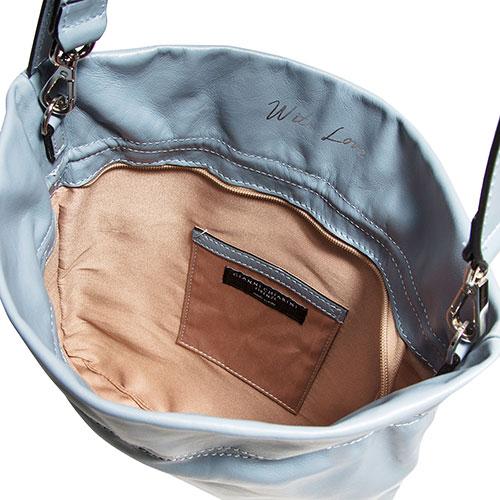 Голубая сумка Gianni Chiarini Memory из гладкой кожи, фото