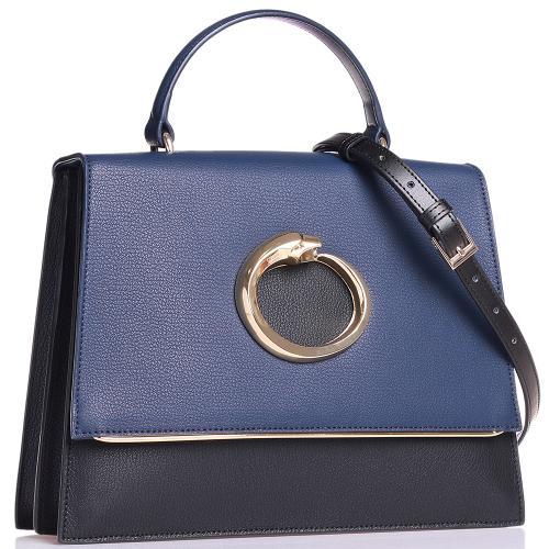 Деловая сумка Cavalli Class Michelle двухцветная, фото