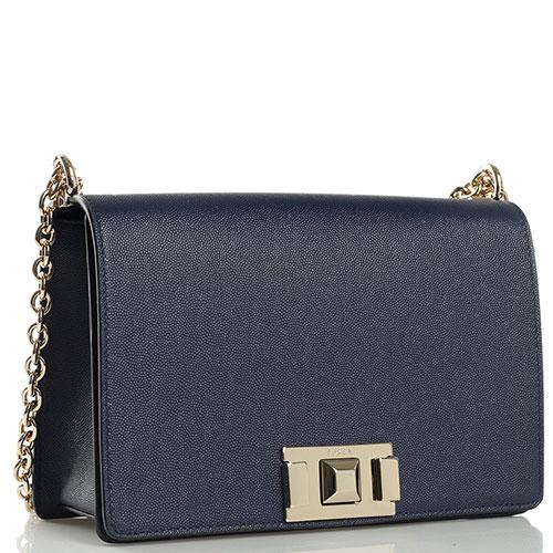 Синяя сумка Furla Mimi прямоугольной формы, фото