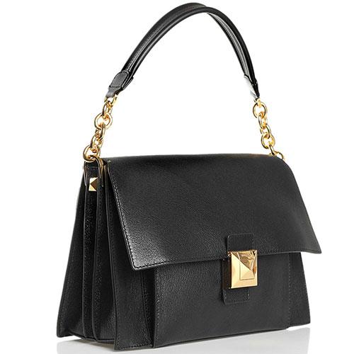 Черная сумка Furla Diva прямоугольной формы, фото