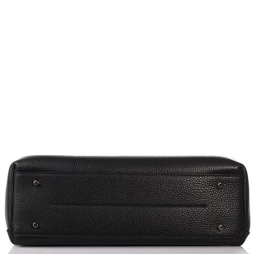 Сумка-портфель Furla из кожи черного цвета, фото