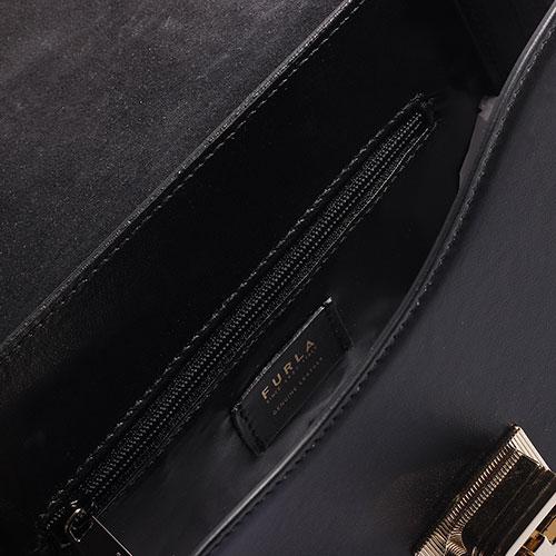 Сумка Furla из кожи черного цвета, фото