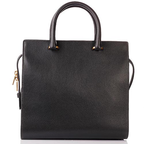 Деловая сумка Coccinelle из черной кожи, фото