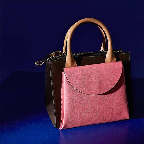 Сумка Marni розового цвета с тиснением сафьяно, фото