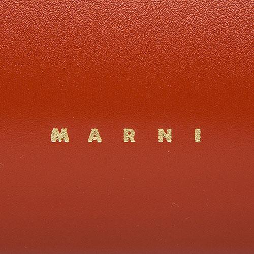 Сумка Marni из гладкой бордовой кожи, фото