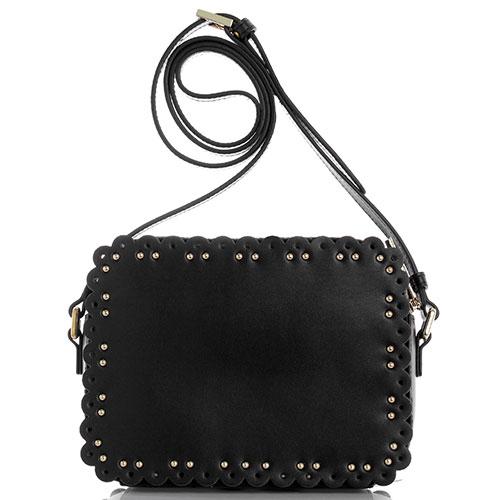 Маленькая сумка Cavalli Class Leolace прямоугольной формы с декором-заклепками, фото
