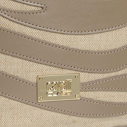 Сумка-ведро Cavalli Class Meryl бежевого цвета, фото