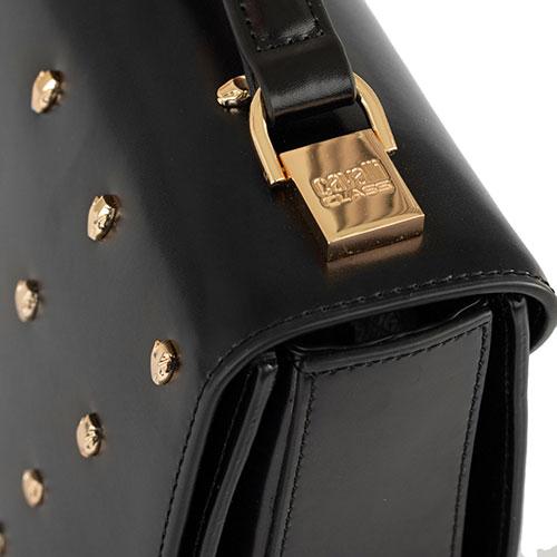 Черная сумка Cavalli Class Yaara квадратной формы, фото