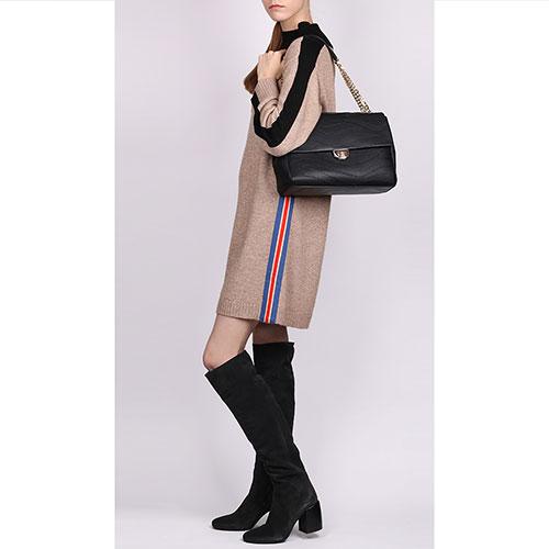 Флеп-бег сумка Cavalli Class Jeannine черного цвета, фото
