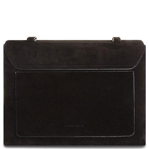 Черная сумка Coccinelle Ambrine Cross из замши, фото