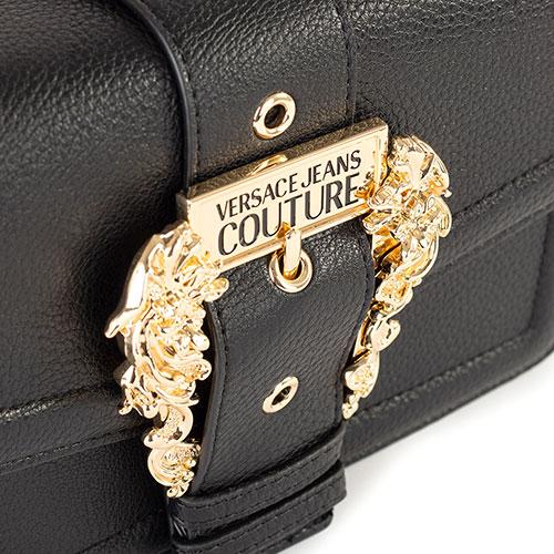 Черная сумка Versace Jeans Couture с золотистой фурнитурой, фото