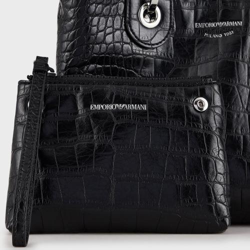 Сумка-тоут Emporio Armani черного цвета, фото