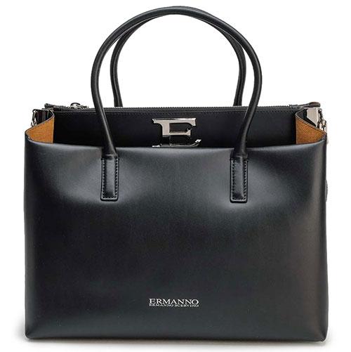 Черная сумка Ermanno Ermanno Scervino с большой буквой, фото