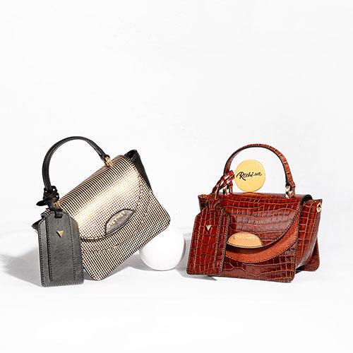 Маленькая сумка Greymer из кожи с тиснением, фото