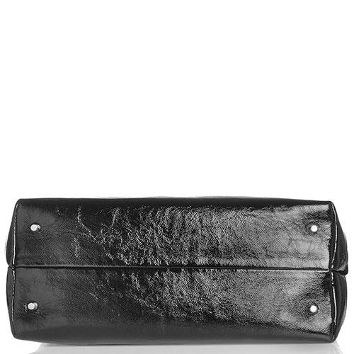 Черная сумка Marina Creazion с принтом-цветы, фото