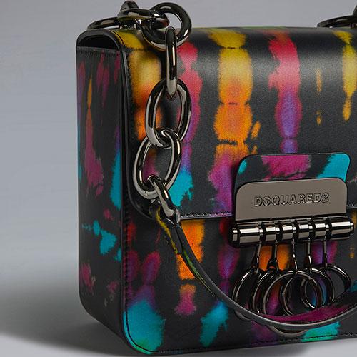 Маленькая сумка Dsquared2 Key с металлическим декором, фото