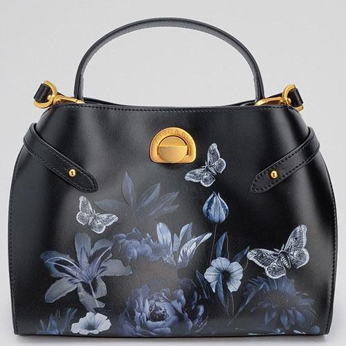 Черная сумка Tosca Blu Delizia с цветочным принтом, фото