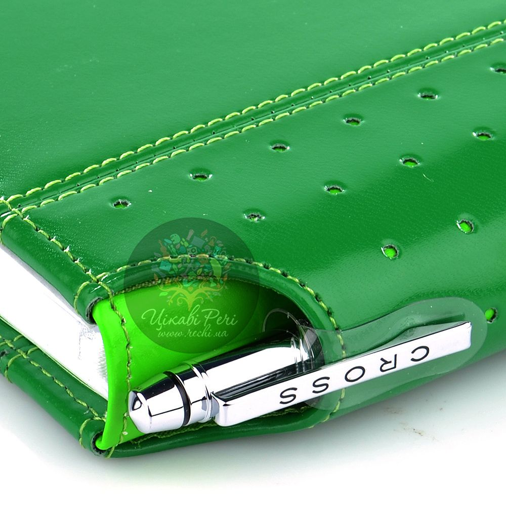 Блокнот малый Cross Signature зеленого цвета в комплекте с ручкой Cross