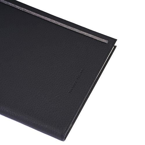 Блокнот Fabiana Filippi в обложке из черной кожи, фото