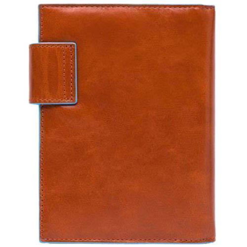 Оранжевый ежедневник Piquadro Blue Square в кожаном чехле, фото
