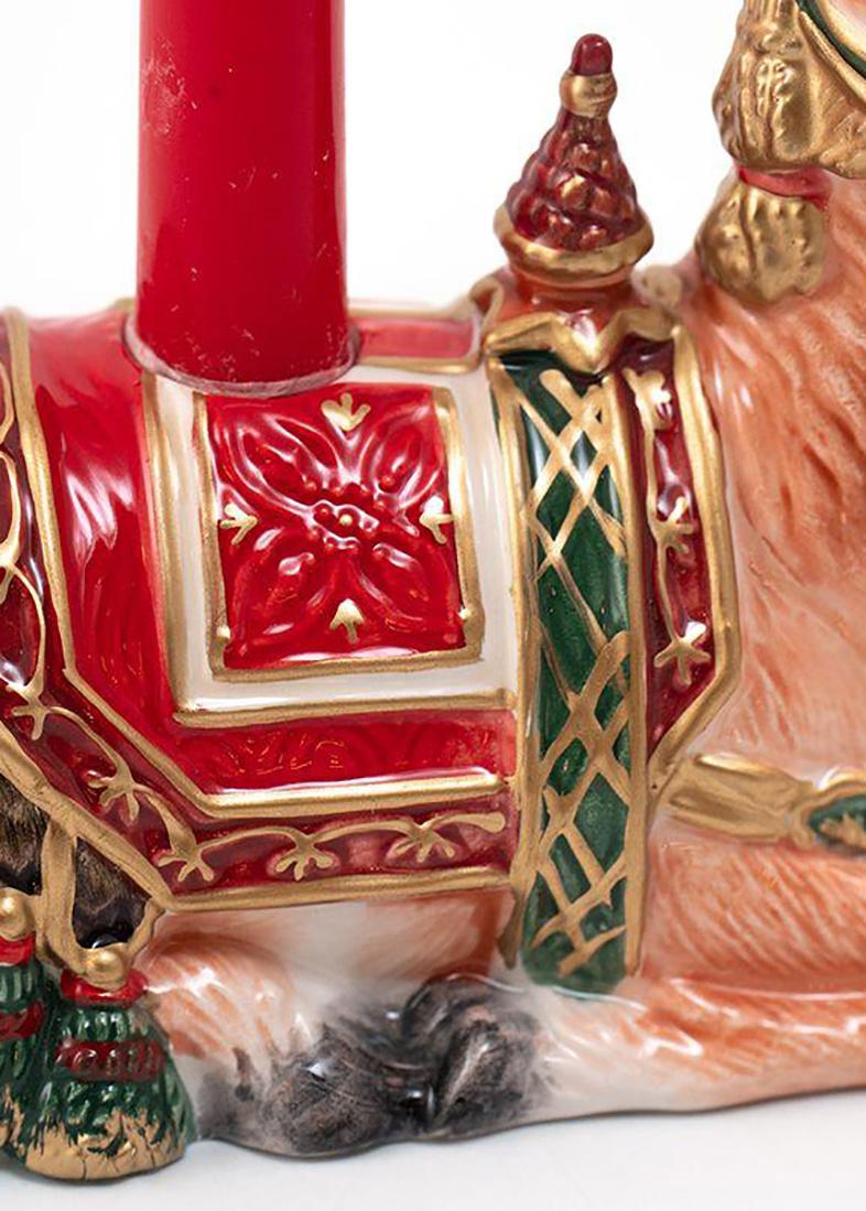 Керамический подсвечник Fitz and Floyd Семейные традиции ручной работы