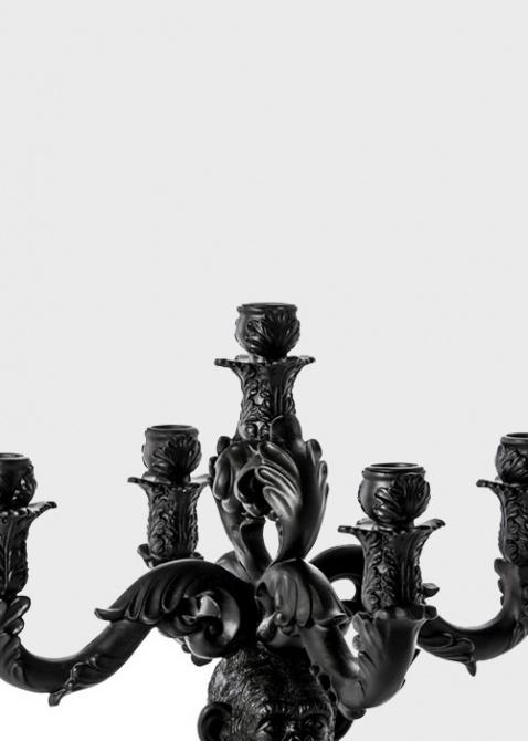 Черный подсвечник Seletti Шимпанзе на 5 свечей, фото