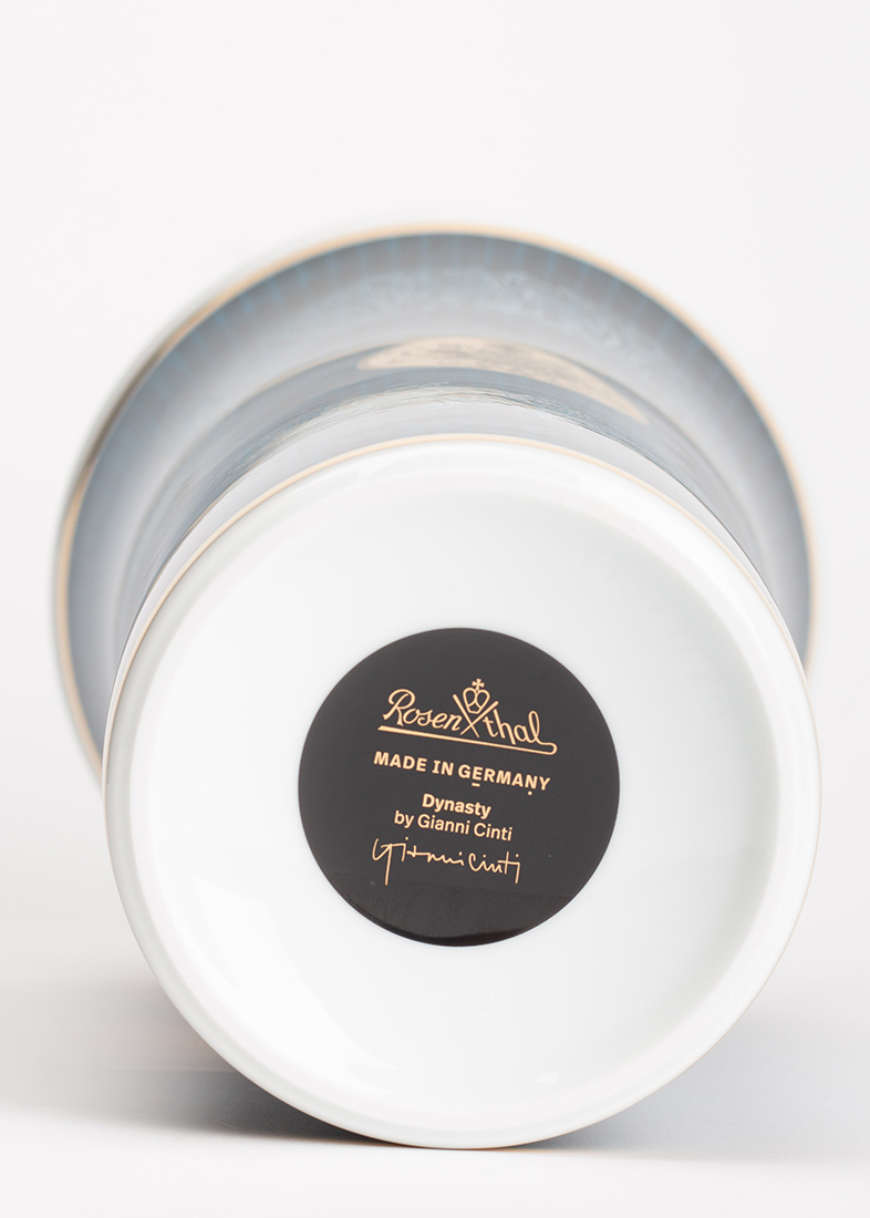 Синяя ваза Rosenthal Heritage Dynasty из фарфора
