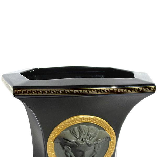 Фарфоровая ваза Rosenthal Versace Gorgona черного цвета