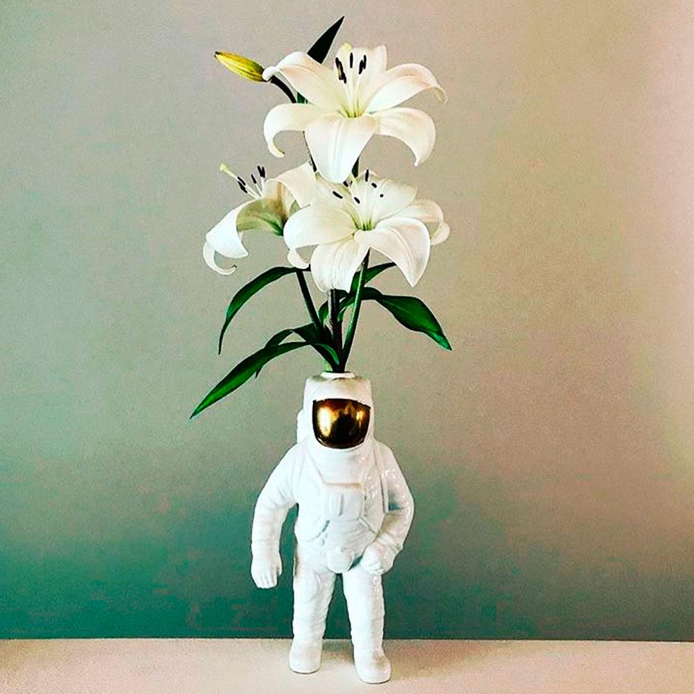 Ваза Seletti Cosmic Dinner Астронавт из фарфора