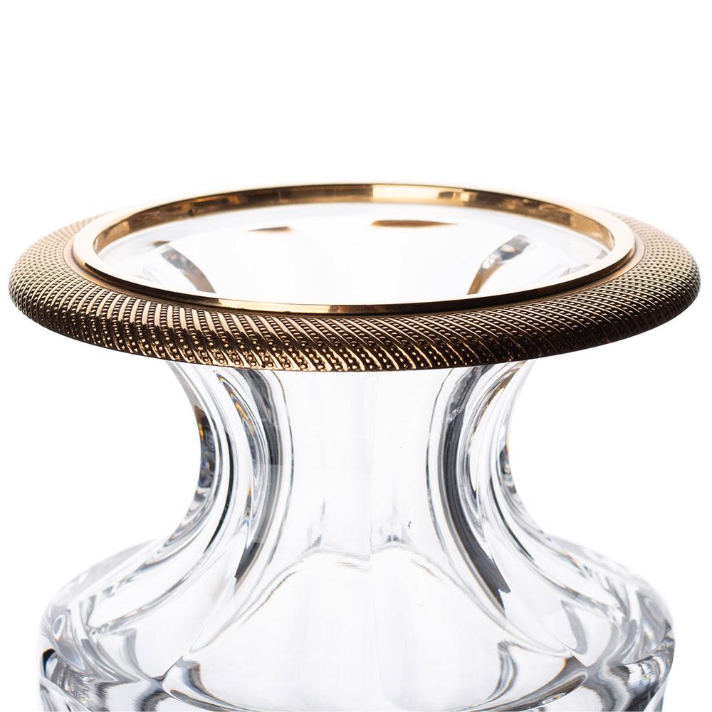 Хрустальная ваза Faberge Romanov с позолотой