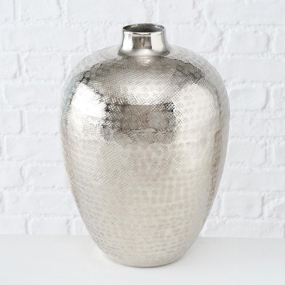 Настольная ваза Boltze в серебристом цвете