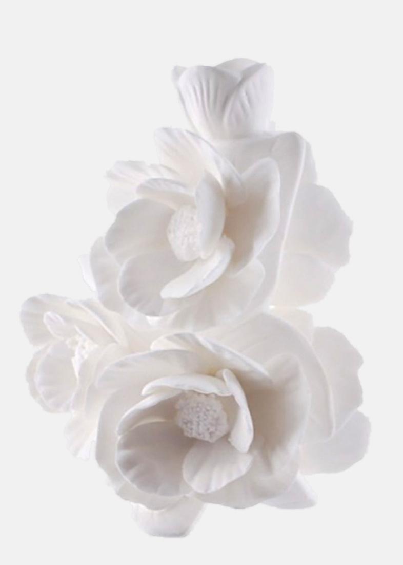 Ваза Цветы Пиона Enesco из бисквитного фарфора