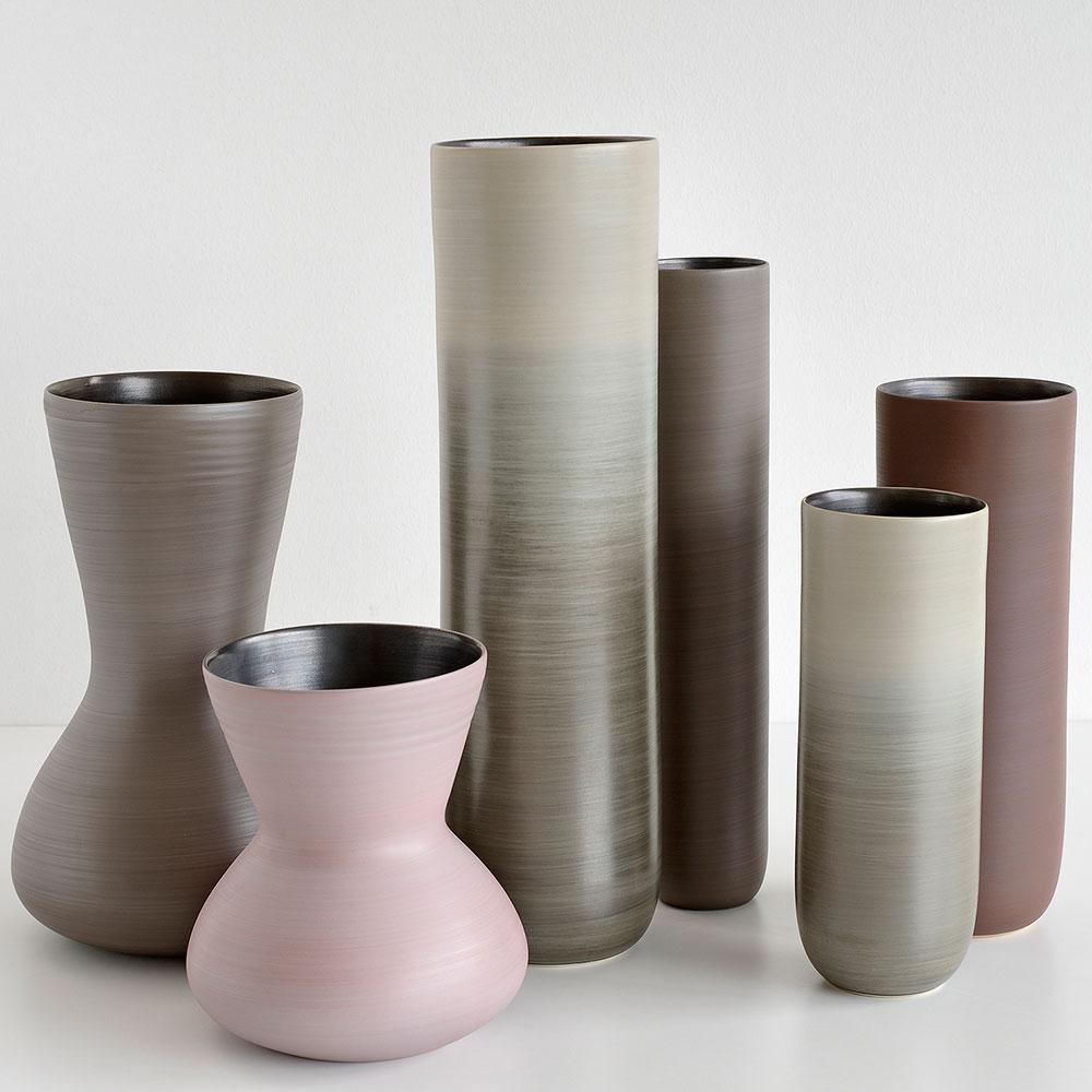 Керамическая ваза Rina Menardi Giara 26см бежевого цвета
