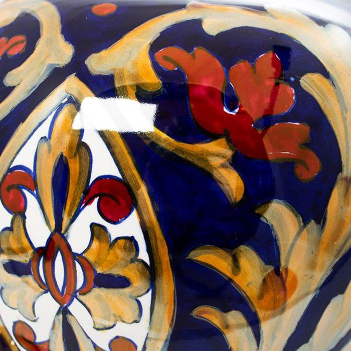 Ваза L'Antica Deruta Lustro Antico с крышкой 35см