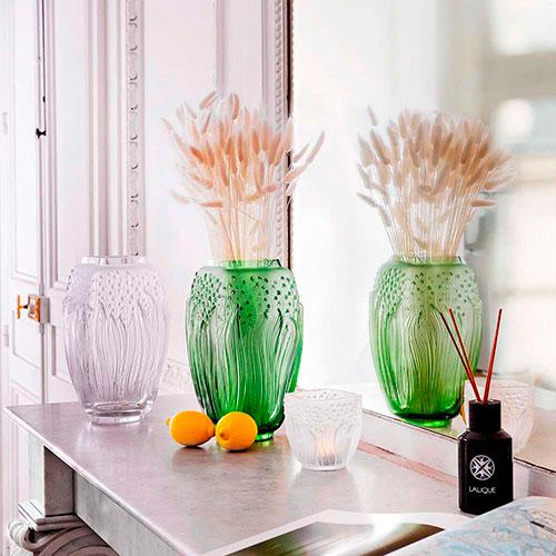 Ваза Lalique Muguet зеленого цвета, фото
