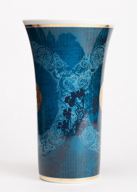 Синяя ваза Rosenthal Heritage Dynasty из фарфора, фото