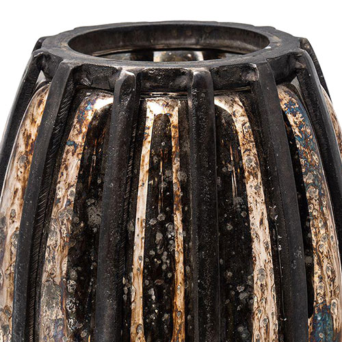 Ваза рельефная LC Home черная с золотистым, фото