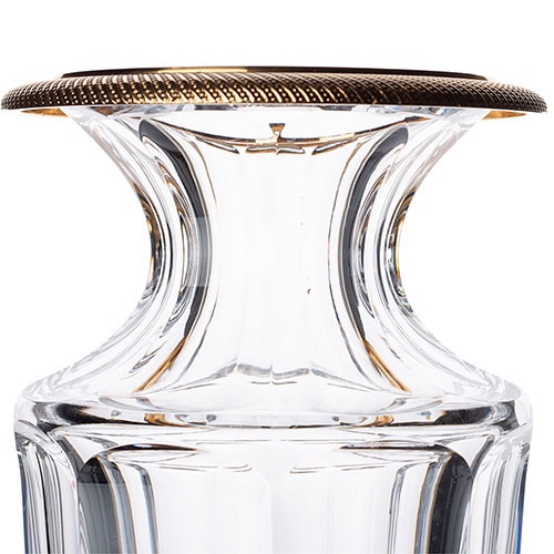 Хрустальная ваза Faberge Romanov с позолотой, фото