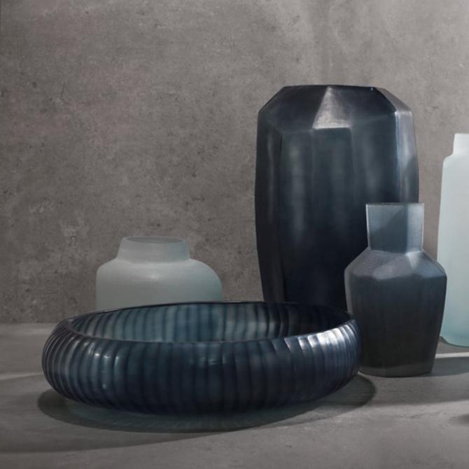 Стеклянная ваза Guaxs Gobi Bowl  45х30см, фото