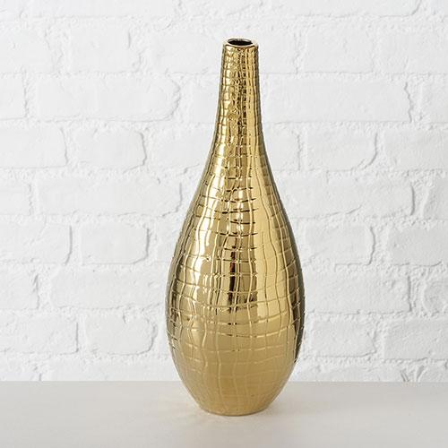 Керамическая ваза Boltze золотистого цвета, фото