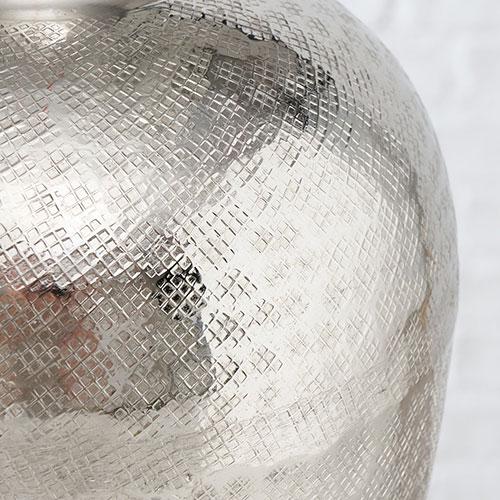 Настольная ваза Boltze в серебристом цвете, фото