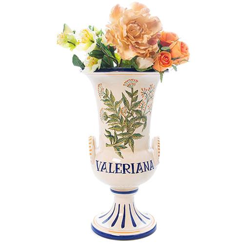 Ваза L'Antica Deruta Ботаника Valeriana в форме кубка, фото