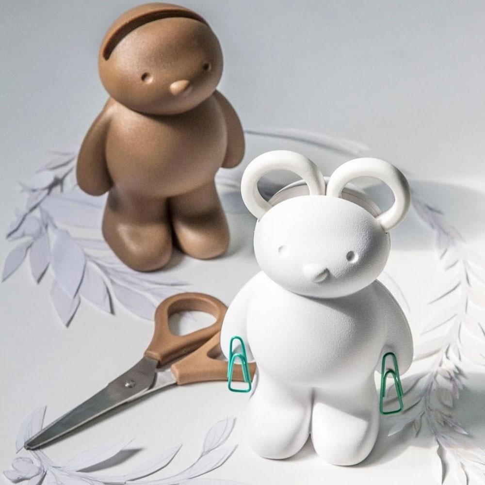 Держатель для ножниц и скрепок Qualy Teddy Bear