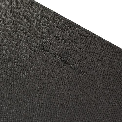 Подложка для письма Graf von Faber-Castell из натуральной черной кожи, фото