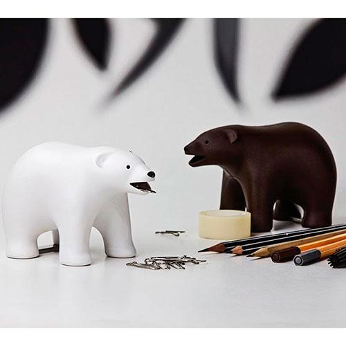 Настольный диспенсер для скотча Qualy Polar Bear, фото